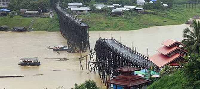World's second longest wooden bridge collapses