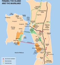 Second Penang Bridge map