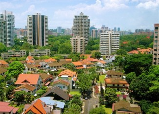 "Soaring Singapore property sends bank outlook to ""negative"""