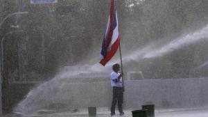 Thai riots flag