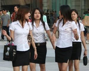 Thai students chatting