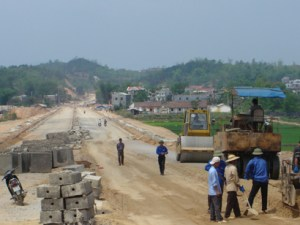 Vietnam road works