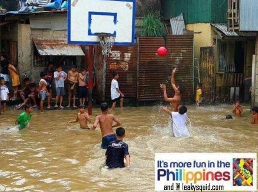 Filipinos make fun of devastating floods