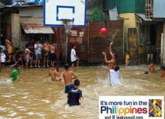 Filipinos make fun of devastating floods