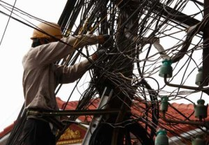 power line Cambodia