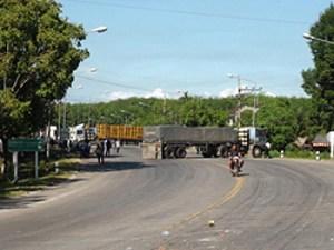 rubber blockade