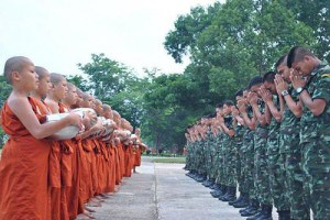 soliders and monks