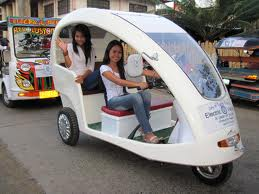 """Electric tricycles are one of the measures to make the Philippines """"greener"""""""