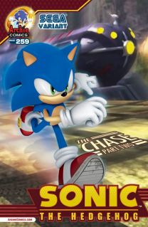 SONIC THE HEDGEHOG #259 VARIANT