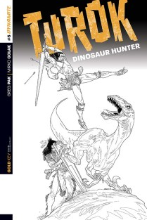 TUROK DINOSAUR HUNTER #5 SEARS BLACK AND WHITE COVER