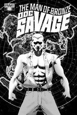 DOC SAVAGE #8 CASSADAY BLACK AND WHITE COVER