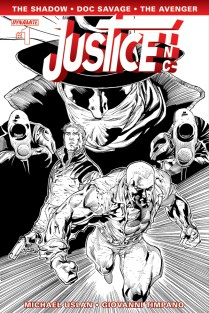 JUSTICE INC. #1 SYAF BLACK AND WHITE COVER