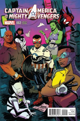 CAPTAIN AMERICA AND THE MIGHTY AVENGERS #2 VARIANT