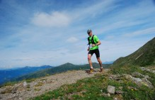 heading toward check point during ticino ultra mountain race