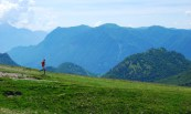 Running lugano scenic trail on swiss-italian border