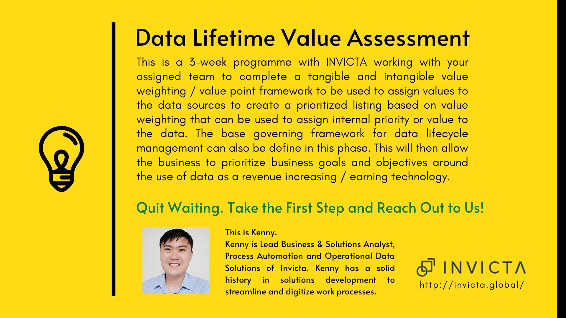 Innovation - Data Assessment Invicta Singapore