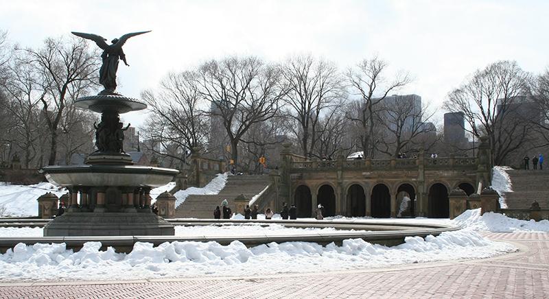 Bethesta, invierno en Nueva York.