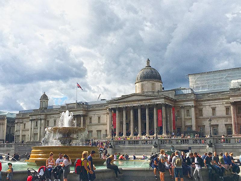 Trafalgar Square para acabar tu fin de semana en Londres