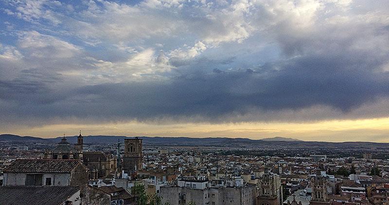 Vistas de Granada desde el Albaycin