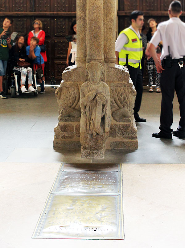 Santo dos Croques, curiosidades de la Catedral de Santiago de Compostela