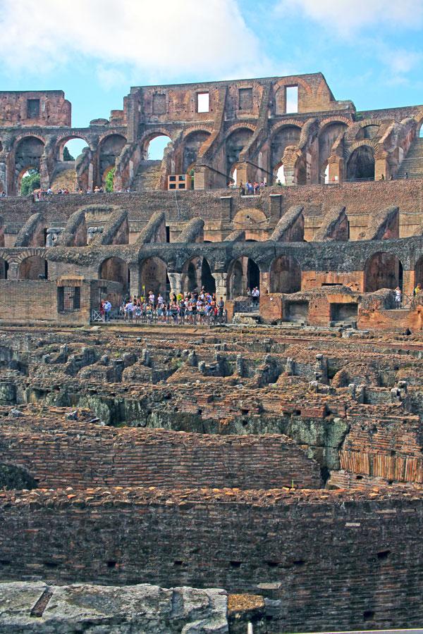 En la arena del Coliseo