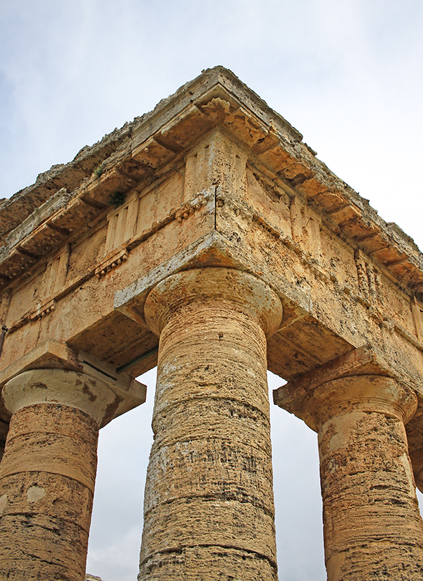 Detalle de los frisos del templo