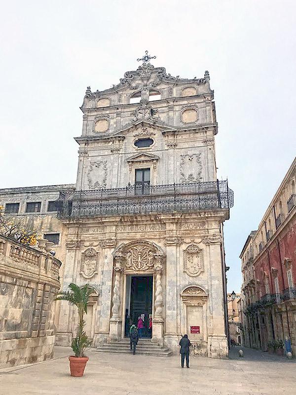 Iglesia Santa Lucia Caravaggio Siracusa