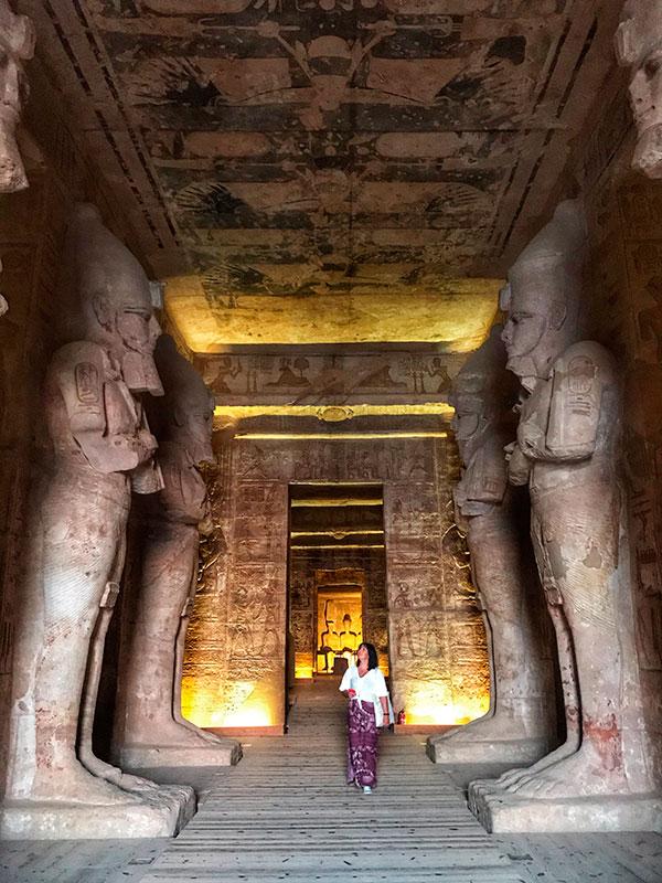 Sala hipóstila del templo de Ramses II