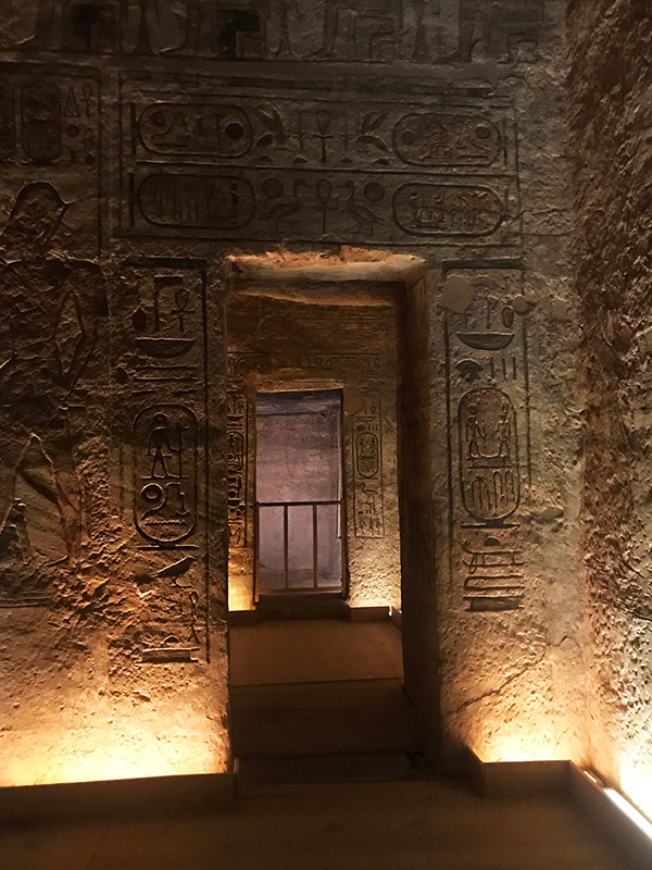 Cámaras laterales templo de Ramses II