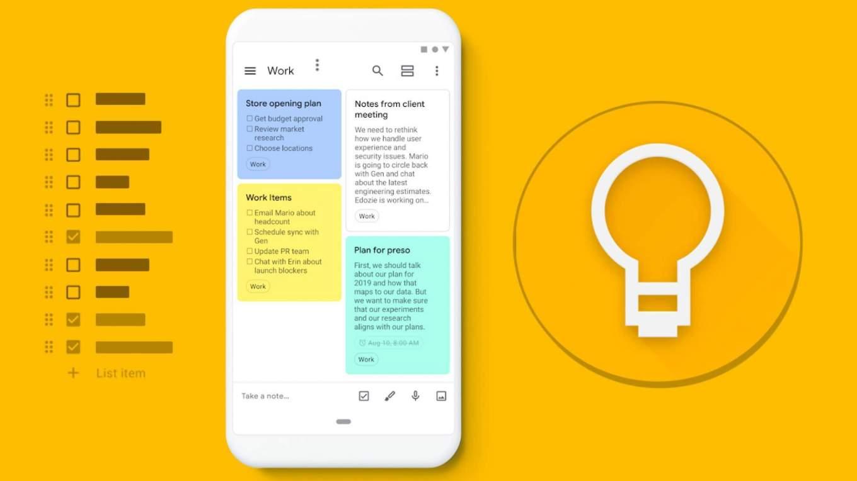 Lleva tus notas y apuntes a todo lugar con Google Keep -