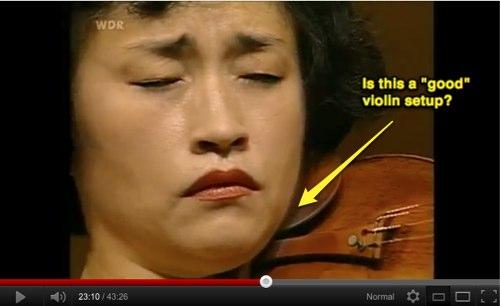 Analyzing Violin Chin Rest Setup - Artist Kyung-Wha-Chung