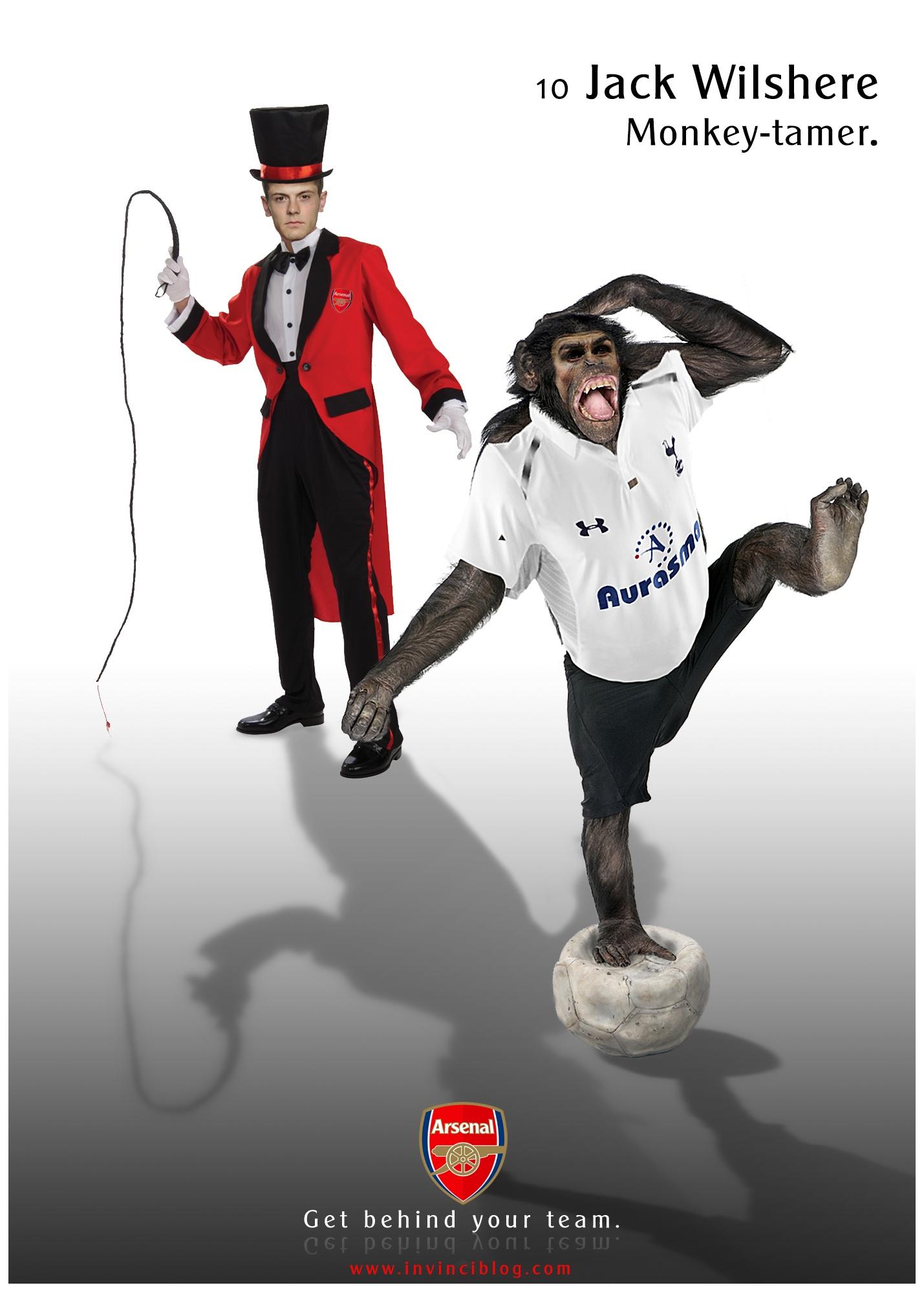 Jack Wilshere – Monkey-tamer.*