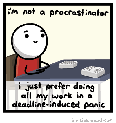 Image result for procrastinator