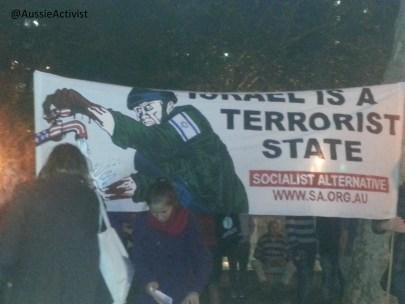 'Israel is a terrorist state' @AussieActivist
