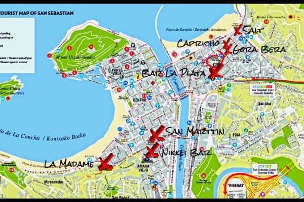 Pintxo-Pote Route Map
