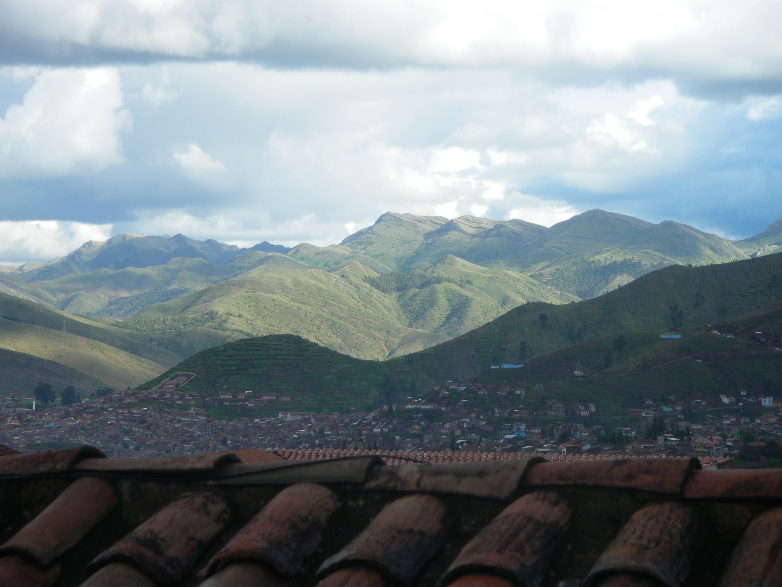 Montañas from the balcony