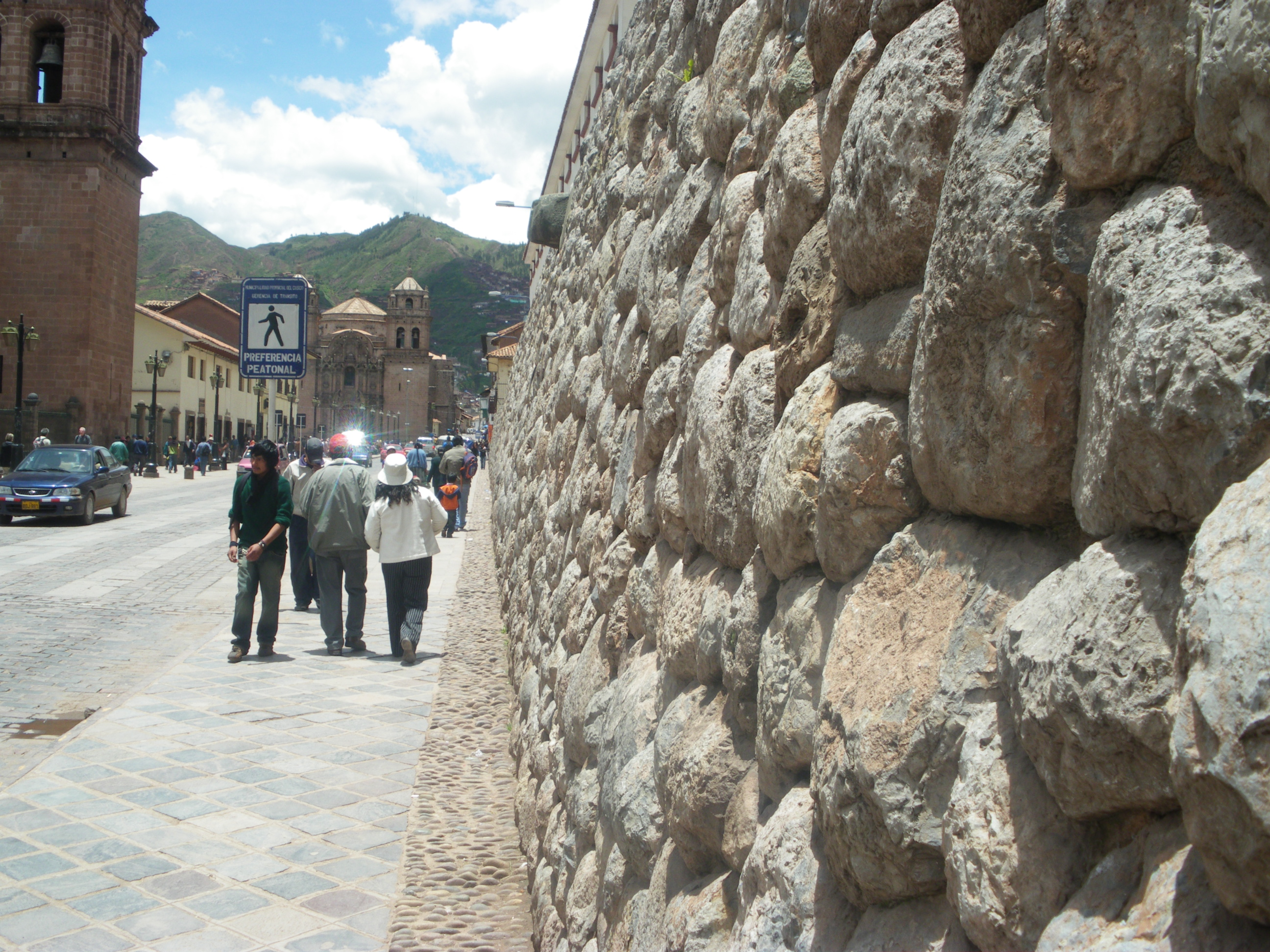 One of the many old walls of the city.