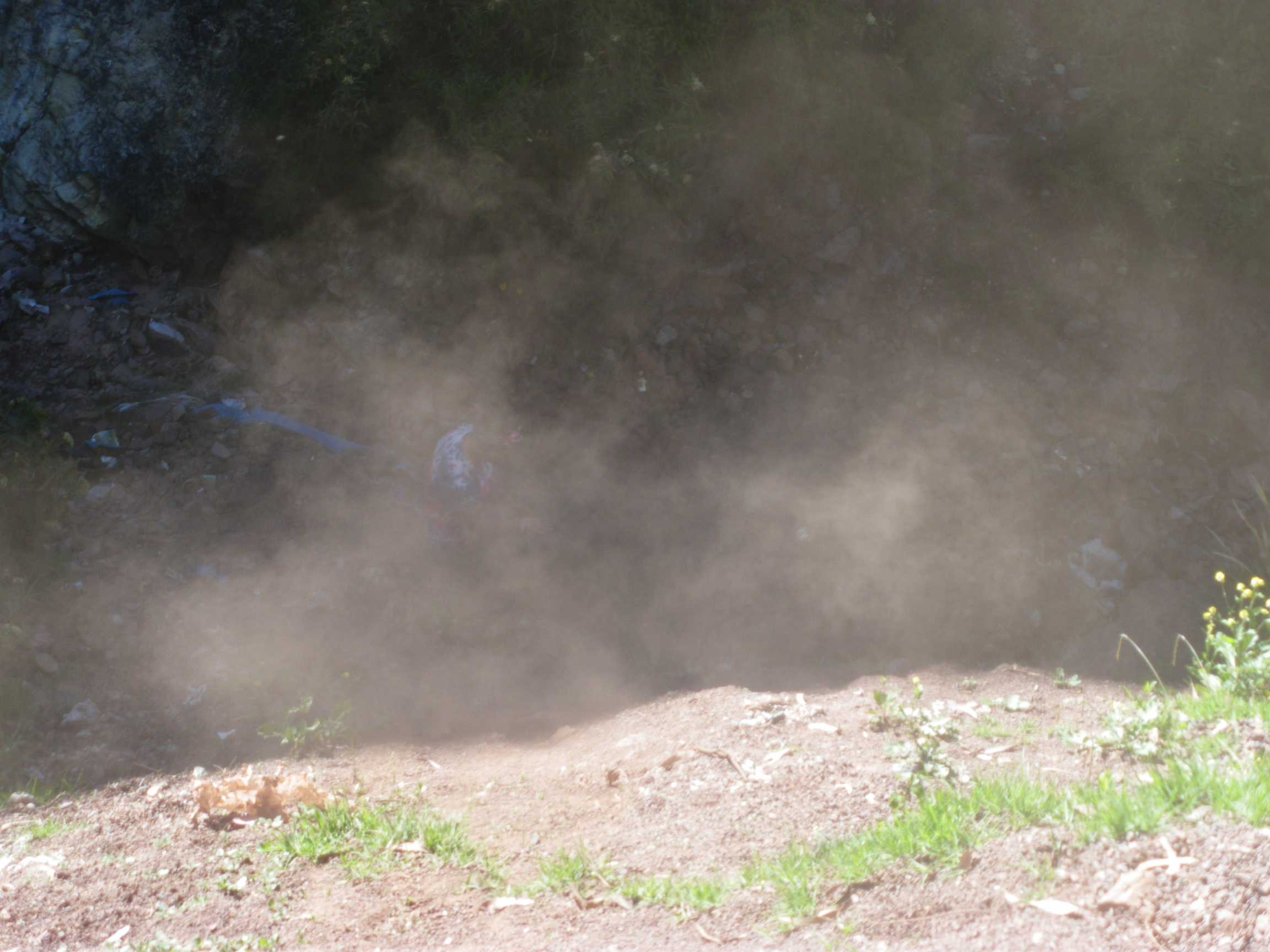 Laura´s dust cloud, and if you look closely you can see the woman herself enshrouded.