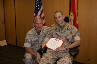 Anthony - receiving purple heart