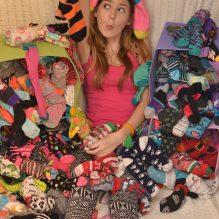 Melanie on past Crazy Sock Day, 2014