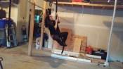 ene on garage ropes