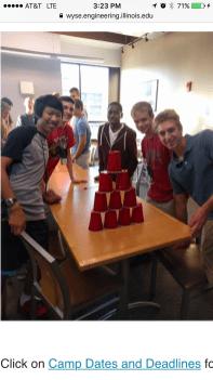 Sellars at University of Illinois Urbana Champaign Summer WYSE Engineering Camp 2016