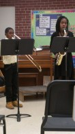 Sellars (trombone) and Jadan (alto sax) 2 mos before accident