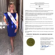 Hailey Pushis receives Proclamation from Mississippi govenor that June is Migraine _ Headache Awareness MonthJPG