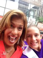 Hoda Kotb and Hailey at the Today Show, promoting Shades for Migraine