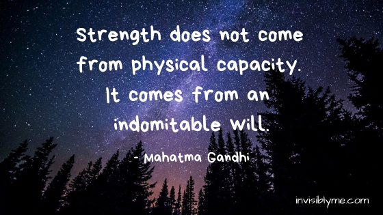Quick Quote : Gandhi & Strength Through The Tough Days
