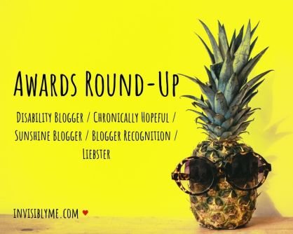 Picture of a pineapple wearing sunglasses against a yellow background, with the text for the title 'Awards round-up' and a list of the awards.
