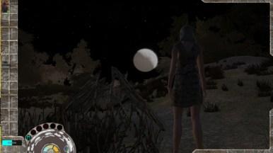 Hu-Aan watching the moon rise