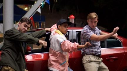 STANDOFF#27 - Ryan McCartan, Julian Works, Chandler Massey - Jerome (Julian Works) helps pass the time by teaching Farrell (Ryan McCartan) and Chris (Chandler Massey) the Whip/NaeNae dance.