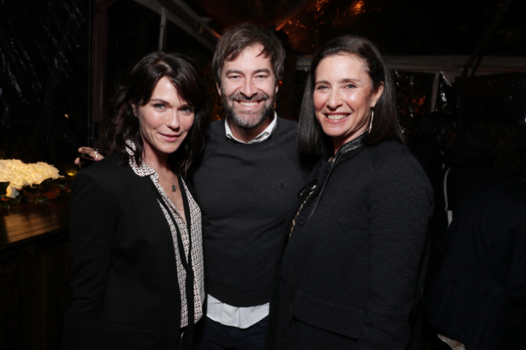 """Katie Aselton, Mark Duplass and Mimi Rogers seen at Netflix's original documentary """"13TH"""" reception hosted by Netflix Chief Content Officer Ted Sarandos and Ambassador Nicole Avant with a special conversation moderated by Oprah Winfrey with director Ava DuVernay and Van Jones] on Sunday, January 15, 2017, in Los Angeles, CA. (Photo by Eric Charbonneau/Invision for Netflix/AP Images)"""